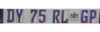 Segmented characters of License plate- free-thesis.com