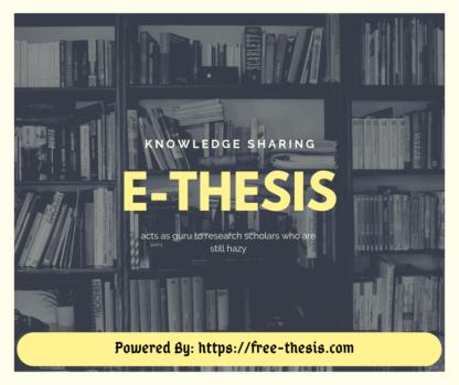 E-Thesis
